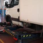 Rettifica dischi su veicolo